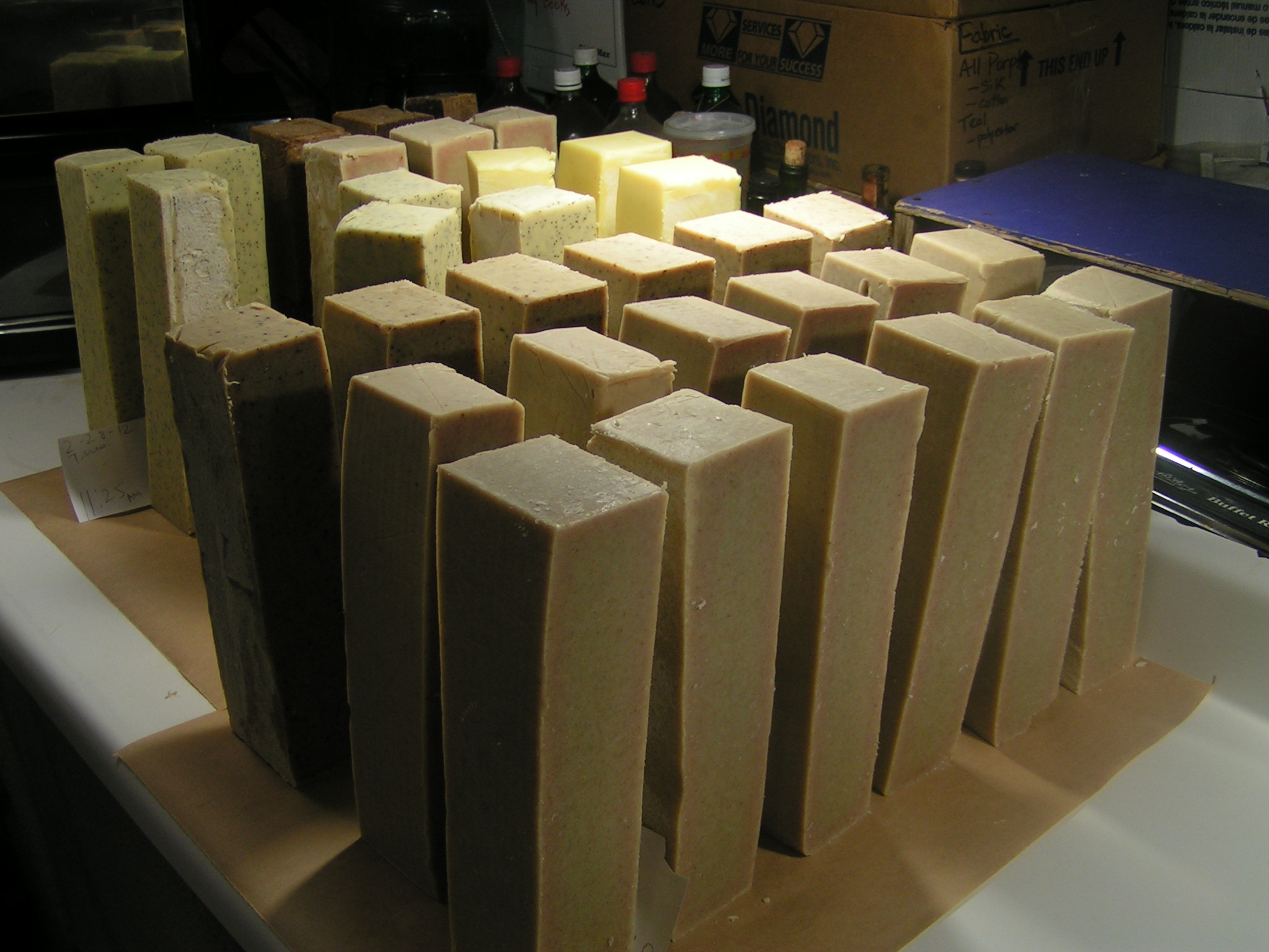 Soap logs curing